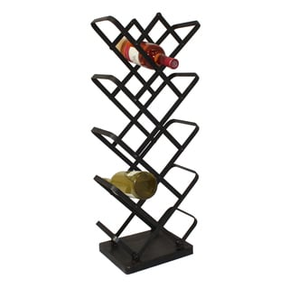 Casa Cortes Urban 14-Bottle Metal Wine Rack Display