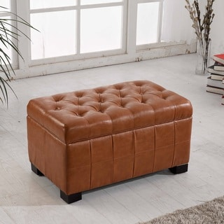 Classic Tufted Storage Bench Ottoman