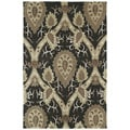 Brookside Black William Morris Polyester Rug (2'0 x 3'0)