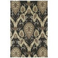 Brookside Black William Morris Polyester Rug (7'6 x 9'0)