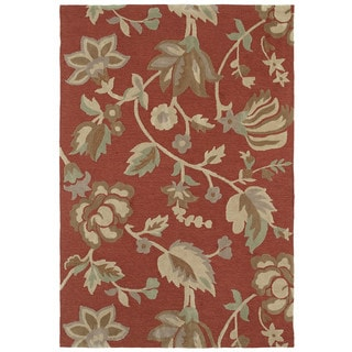 Brookside Salmon Garden Polyester Rug (9'6 x 13'0)