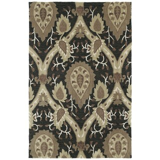 Brookside Black William Morris Polyester Rug (5'0 x 7'6)