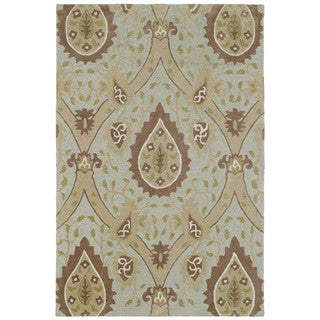 Brookside Mint Blue William Morris Polyester Rug (9'6 x 13'0)
