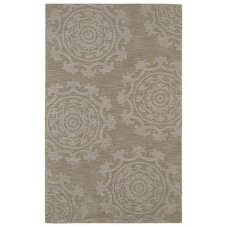 Trends Suzani Light Brown Wool Rug (5'0 x 8'0)