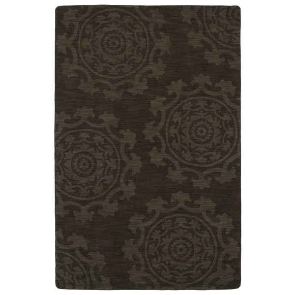 Trends Suzani Chocolate Brown Wool Rug (5'0 x 8'0)