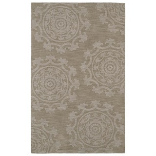 Trends Suzani Light Brown Wool Rug (9'6 x 13'6)