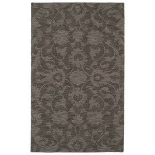 Trends Dark Taupe Classic Wool Rug (5'0 x 8'0)
