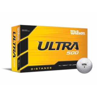 Wilson Ultra 500 Distance Golf Ball 15pk White