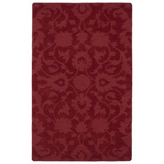 Trends Red Classic Wool Rug (9'6 x 13'6)