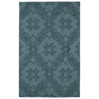Trends Turquoise Medallions Wool Rug (9'6 x 13'6)