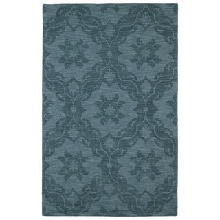 Trends Turquoise Medallions Wool Rug (5' x 8')
