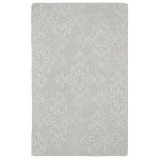 Trends Ivory Damask Wool Rug (5' x 8')