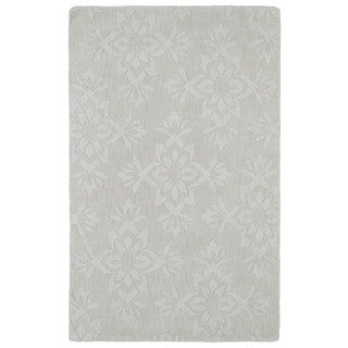 Trends Ivory Damask Wool Rug (8' x 11')