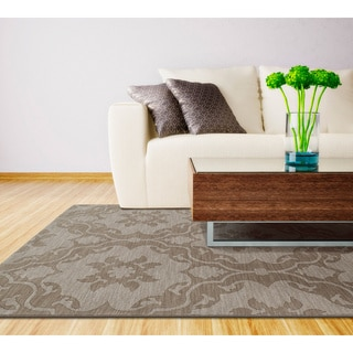 Trends Light Brown Medallions Wool Rug (5' x 8')
