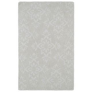 Trends Ivory Damask Wool Rug (9'6 x 13'6)