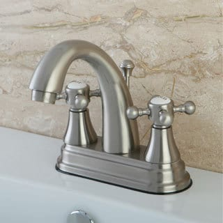 Classic Two-Handle Satin Nickel Bathroom Faucet