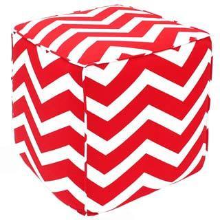 Handcrafted Chevron Pouf Ottoman (India)