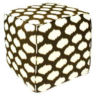 Java Noah Ikat Pouf Ottoman (India)