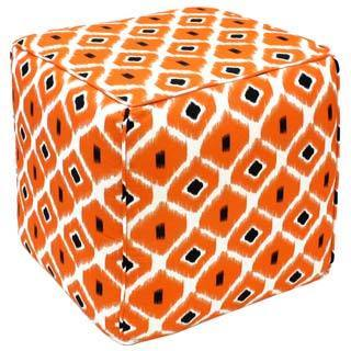 Orange Dane Pouf Ottoman (India)
