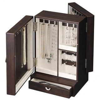 Revolving Wooden Jewelry Box