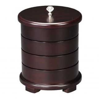 Wooden Swivel Jewelry Box