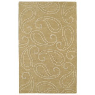 Trends Yellow Paisley Wool Rug (9'6 x 13'6)