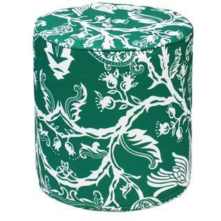 Green Avery Outdoor Pouf Ottoman (India)