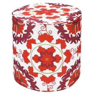 Handcrafted Delphi Outdoor Pouf Ottoman (India)