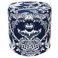 Dark Blue Avery Outdoor Pouf Ottoman (India)