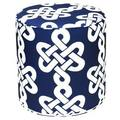 Dark Blue Newport Outdoor Pouf Ottoman (India)