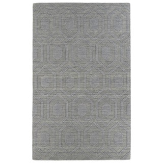Trends Steel Grey Loft Wool Rug (5' x 8')