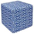 Blue Veil Outdoor Pouf Ottoman (India)