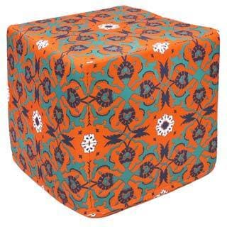 Orange Collide Outdoor Pouf Ottoman (India)