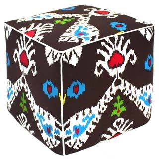 Java Tribal Ikat Pouf Ottoman (India)
