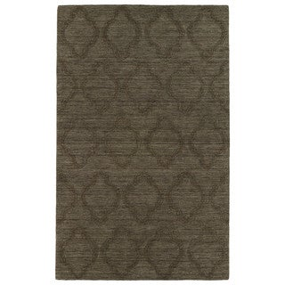Trends Chocolate Brown Prints Wool Rug (9'6 x 13'6)