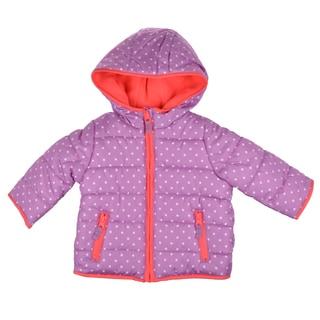 Carter's Girl's Purple Hooded Fleece Lined Coat