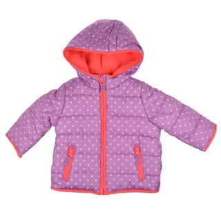 Carter's Girl's Purple Hooded Fleece Lined Coat