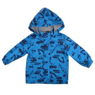 Carter's Boy's Hooded Truck Print Rain Jacket