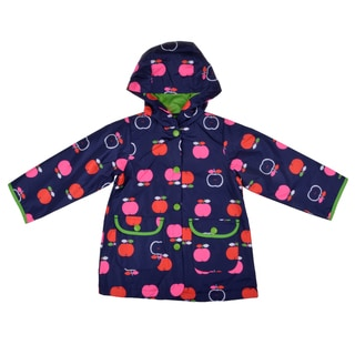 Carter's Girl's Hooded Apple Print Rain Jacket