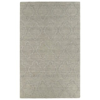 Trends Oatmeal Prints Wool Rug (3'6 x 5'6)