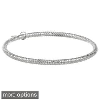 Stainless Steel Diamond-cut 5-mm Bangle Bracelet