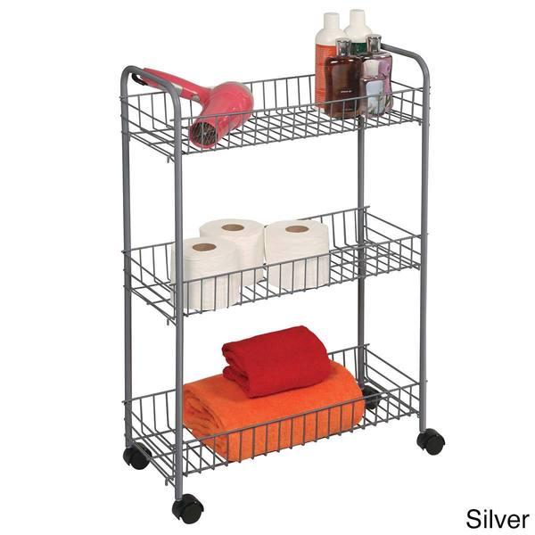 3-Tier Medium Bath Accessories Cart