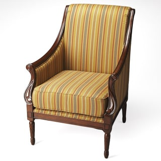 Golden Multi-Stripe Club Chair