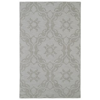 Trends Light Taupe Medallions Wool Rug (9'6 x 13'6)