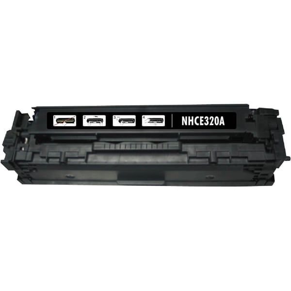 INSTEN Black Ink Cartridge for HP CE320A/ Canon 128A