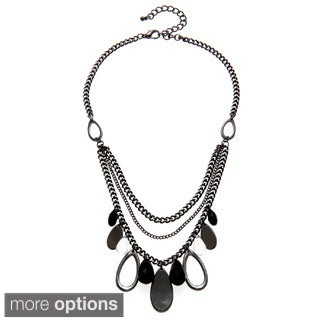 Alexa Starr Hematite-colored Lucite Swag Front Necklace