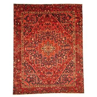 Antique 1960's Persian Hand-knotted Tribal Bakhtiari Red/ Navy Wool Rug (9'6 x 12'2)