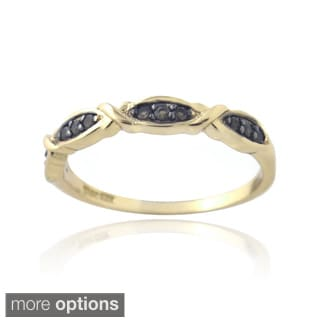 Glitzy Rocks Gold over Silver Smokey Quartz Ring
