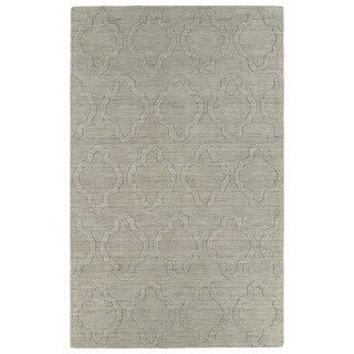 Trends Oatmeal Prints Wool Rug (5' x 8')