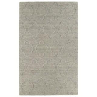 Trends Oatmeal Prints Wool Rug (5' x 8')